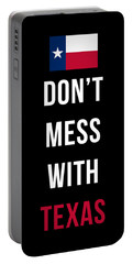 Don't Mess With Texas Tee Black Portable Battery Charger