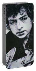 Portable Battery Charger featuring the painting Dont Think Twice, Its Alright by Luis Ludzska