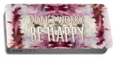 Portable Battery Charger featuring the  Don't Worry Be Happy by Bonnie Bruno