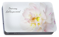 Portable Battery Charger featuring the photograph Don't Worry by Mary Jo Allen