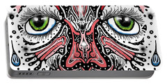 Doodle Face Portable Battery Charger