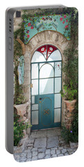 Portable Battery Charger featuring the photograph Door Entrance To The Art by Yoel Koskas