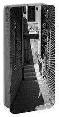 Door In An Alley Portable Battery Charger by Kevin Fortier