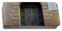 Door In Ferrara, Italy Portable Battery Charger