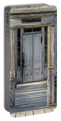 Door Of The Old Bannack Schoolhouse And Masonic Temple Portable Battery Charger