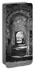 Doors At Ballybeg Priory In Buttevant Ireland Portable Battery Charger