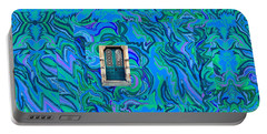 Doorway Into Multi-layers Of Water Art Collage Portable Battery Charger