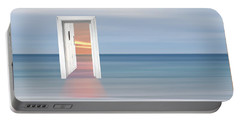 Doorway To The Future Portable Battery Charger by Gill Billington