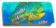 Dorado And Pilot Fish - Mahi Mahi Fish Portable Battery Charger