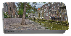 Dordrecht Behind The Church Portable Battery Charger by Frans Blok