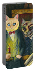 Portable Battery Charger featuring the painting Dorian Gray by Carrie Hawks