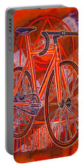 Dosnoventa Houston Flo Orange Portable Battery Charger by Mark Jones