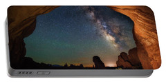 Double Arch Milky Way Views Portable Battery Charger by Darren White