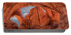 Portable Battery Charger featuring the photograph Double Arches At Arches National Park by Penny Lisowski