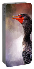 Double Crested Cormorant  Portable Battery Charger by Cyndy Doty