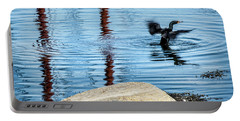 Portable Battery Charger featuring the photograph Double-crested Cormorant by Daniel Hebard