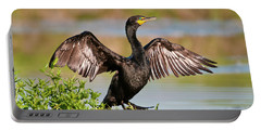 Double-crested Cormorant Portable Battery Charger by Gary Lengyel