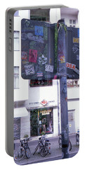 Double Exposure Street Sign Portable Battery Charger