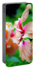 Double Peach Hibiscus Two Portable Battery Charger
