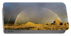 Portable Battery Charger featuring the photograph Double Rainbow Gold by Gaelyn Olmsted