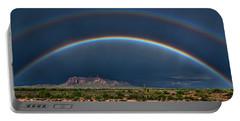Portable Battery Charger featuring the photograph Double Rainbow  by Saija Lehtonen