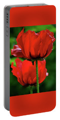 Double Red Poppies Portable Battery Charger