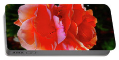 Double Rose Portable Battery Charger by Mark Blauhoefer