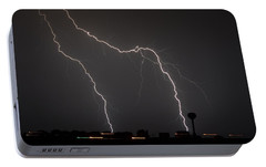 Portable Battery Charger featuring the photograph Double Strike On The Sound by Jeff at JSJ Photography