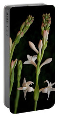 Double Tuberose In Bloom #2 Portable Battery Charger