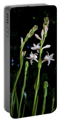 Double Tuberose In Bloom Portable Battery Charger