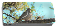 Dove In Pine Tree Portable Battery Charger