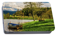 Portable Battery Charger featuring the photograph Down By The Lake  by David Dehner