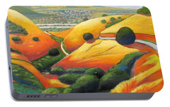 Portable Battery Charger featuring the painting Down Metcalf Road by Gary Coleman