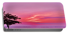 Summer Sunset At The Shore Portable Battery Charger