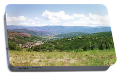 Portable Battery Charger featuring the photograph Down The Valley At Snowmass #2 by Jerry Battle