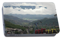 Portable Battery Charger featuring the photograph Down The Valley At Snowmass by Jerry Battle