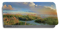Down To The Beach 2 - Florida Beaches Portable Battery Charger by HH Photography of Florida