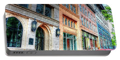 Downtown Asheville City Street Scene II Painted Portable Battery Charger