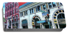 Downtown Asheville City Street Scene Painted  Portable Battery Charger