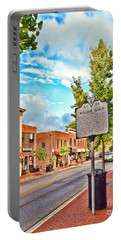 Downtown Blacksburg With Historical Marker Portable Battery Charger