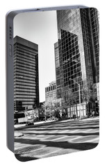 Portable Battery Charger featuring the photograph Downtown Bubble Reflections by Darcy Michaelchuk