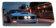 Portable Battery Charger featuring the photograph Downtown California Special - Mustang - American Muscle Car by Jason Politte