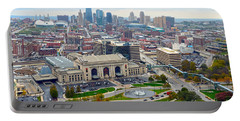 Downtown Kansas City From Liberty Memorial Tower Portable Battery Charger