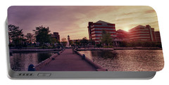 Portable Battery Charger featuring the photograph Downtown Neenah Sunset by Joel Witmeyer