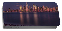 Downtown Nyc At Sunset Portable Battery Charger