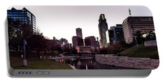 Downtown Omaha At Sunset Portable Battery Charger