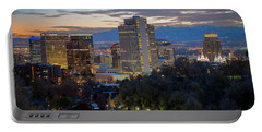 Downtown Salt Lake City At Dusk Portable Battery Charger