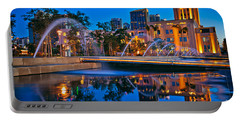Downtown San Diego Waterfront Park Portable Battery Charger by Sam Antonio Photography