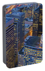 Downtown Seattle Buildings Details Portable Battery Charger by Mike Reid