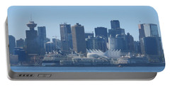 Downtown View From North Vancouver Portable Battery Charger